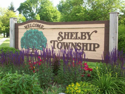 Shelby Township Michigan Sign